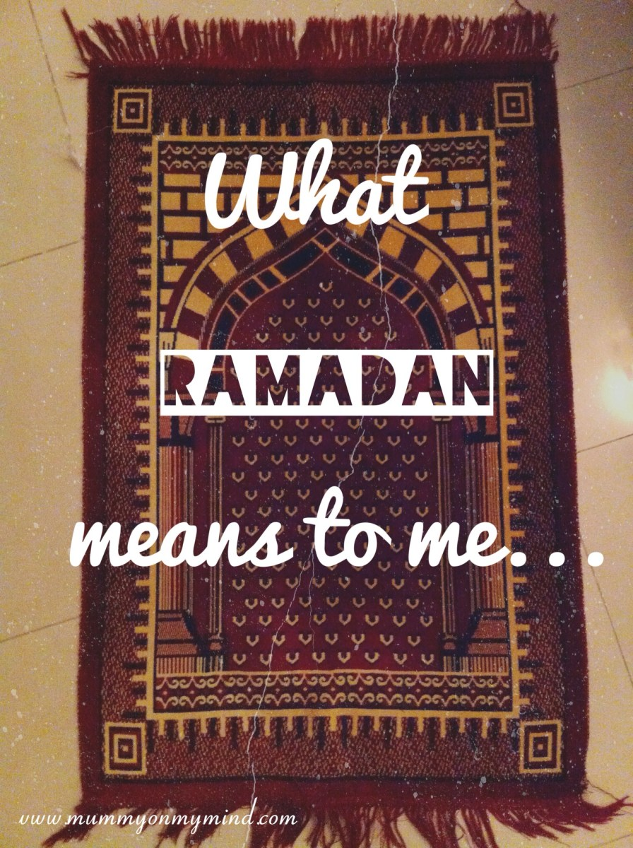What Ramadan means to me...